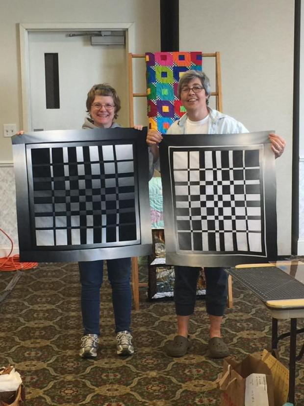 Joanne and Laura's Converging Cubes Backgrounds